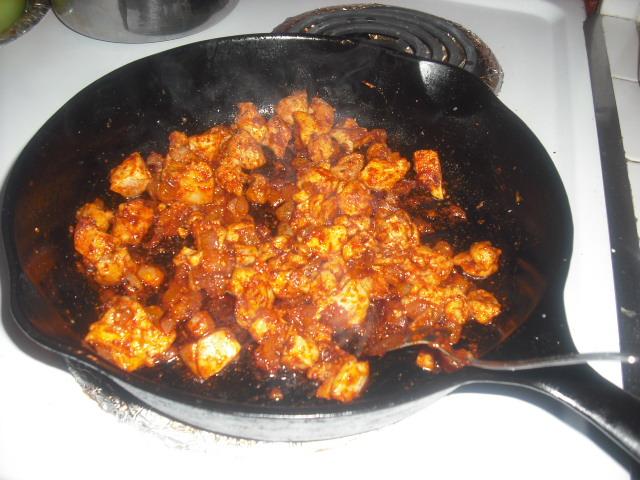 Adding the paprika